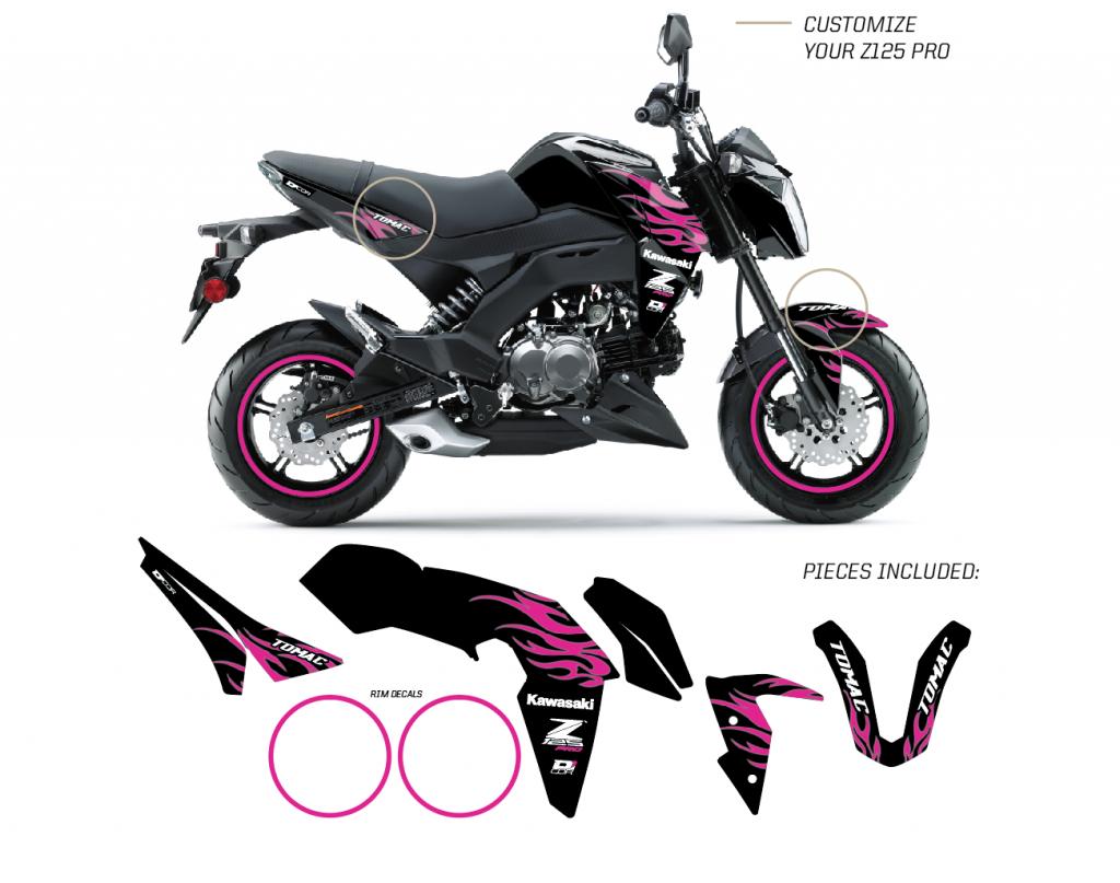 2017 Kawasaki Z125 Pro >> Pink Flame Z125 Pro