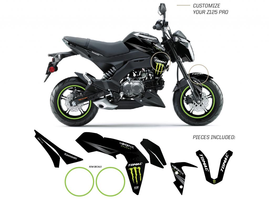 2017 Kawasaki Z125 Pro >> Lights Out Z125 Pro