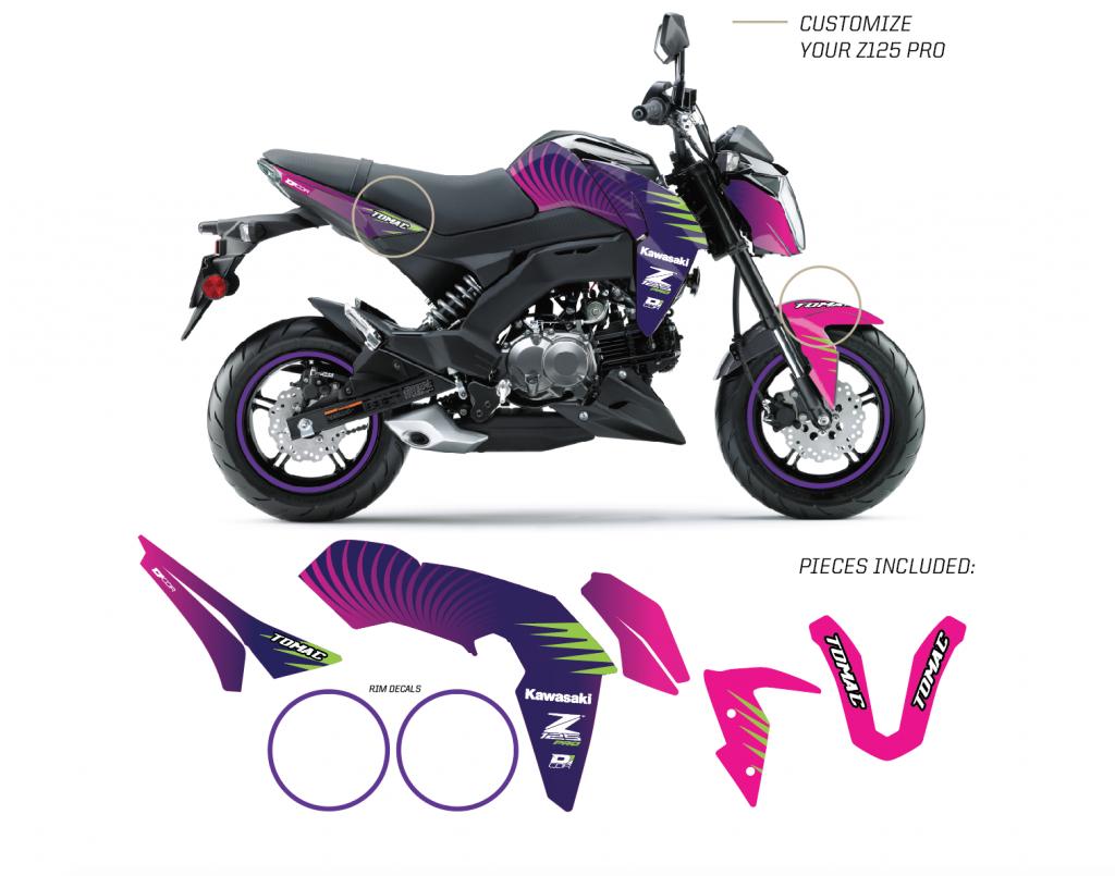 2017 Kawasaki Z125 Pro >> Neon Z125 Pro